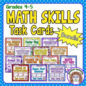 Math Skills Task Card Bundle