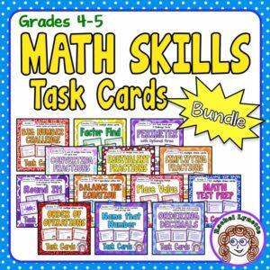 Math Skills Task Card Bundle