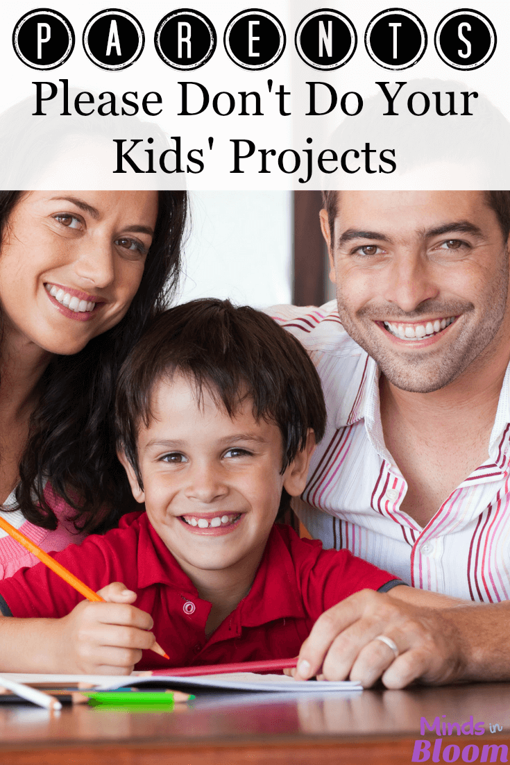 Parents, we teachers have one small request: Please don't do your kids' projects! The point of the project assignment is for the student to show was she knows, not for you to show what you know. I'm sharing a free download in this post that helps parents understand what is okay and not okay to help with when it comes to kids' projects.