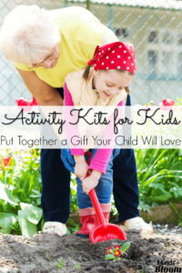 This list of ideas for activity kits for kids is just what you need to give your child a personalized gift that he or she will love. I've included activity kit ideas for crafts, art, cooking, gardening, tools, and more! Check out these lists, and prepare your child an activity kit that he or she will use for years to come!