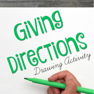 Giving Directions Drawing Activity
