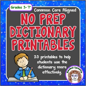 This bundle of fun dictionary worksheets will help your students master their dictionary skills, including syllables, definitions, guide words, pronunciation, correct spelling, and parts of speech.