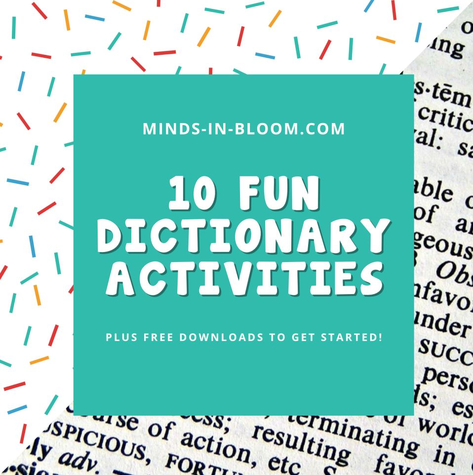 10 Fun Activities for Dictionary Skills