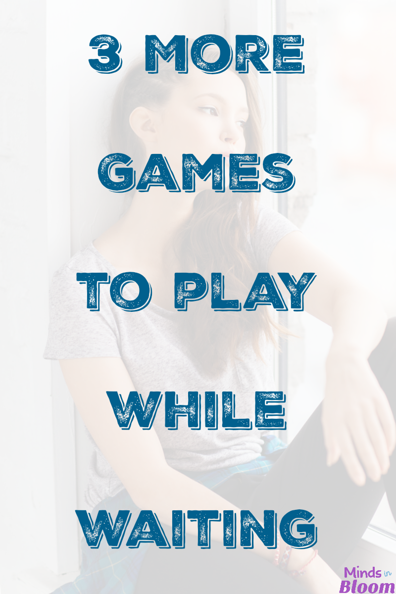Waiting can be challenging for adolescents, so here are three fun word games to play while waiting at the bank, in line for a ride, or other times that you find yourself waiting with your kids.