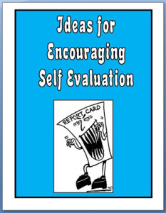 Ideas for Encouraging Self-Evaluation