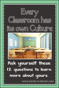 Your Classroom Culture: 12 Question to Ask Yourself