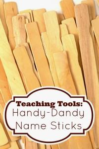 Teaching Tools: Handy-dandy Name Sticks