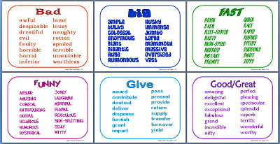 Worksheets Synonyms List For Kids no more overused words minds in bloom synonyms for list booklet and mini poster formats