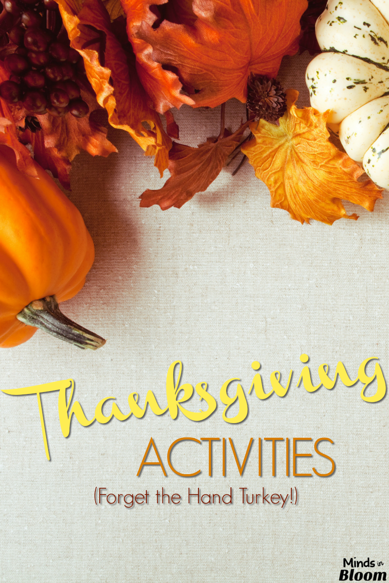If you, like me, are tired of always doing hand turkeys at Thanksgiving, then check out this list of alternative Thanksgiving activities that you can do with your class!