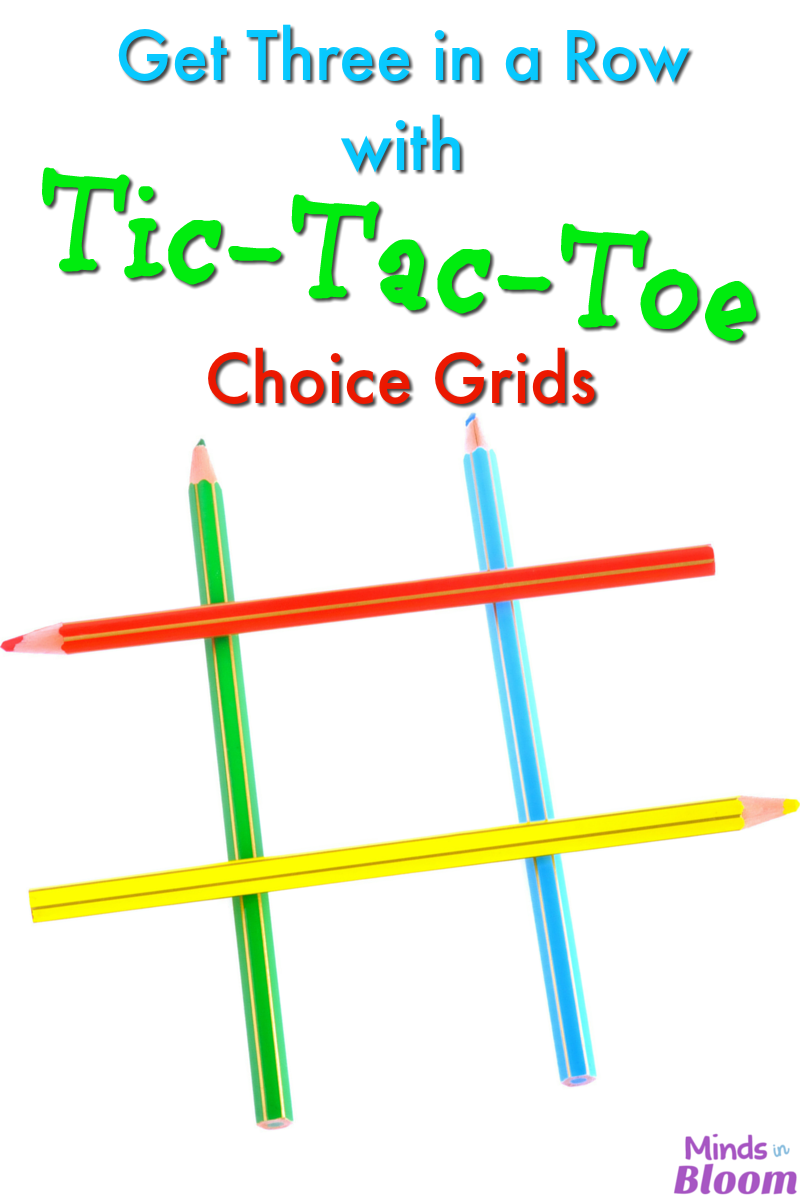 Students love choice, and what better way to give them that power than with Tic-Tac-Toe Choice Grids? They still have to work, but it's their choice!