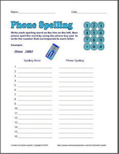Phone Spelling – Fun Free Activity!