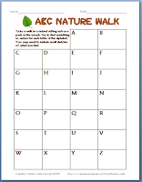Take an ABC Nature Walk!