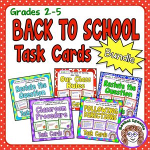 Back to School Task Card Bundle