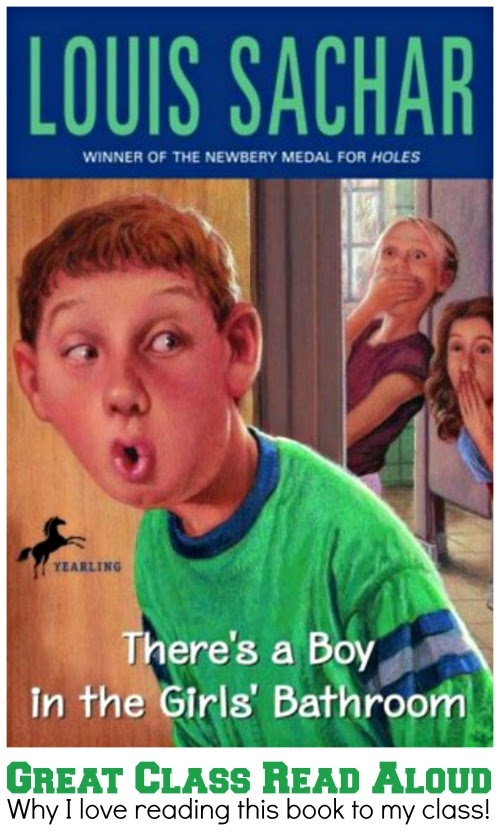 Although There's a Boy in the Girls' Bathroom may seem silly at first glance, it actually makes for a great class read aloud. It tells the story of a boy who has given up on himself and whom others have given up on, as well - except for his school counselor. It has messages of perseverance, grit, community, and acceptance, hence why it's such a great class read aloud!