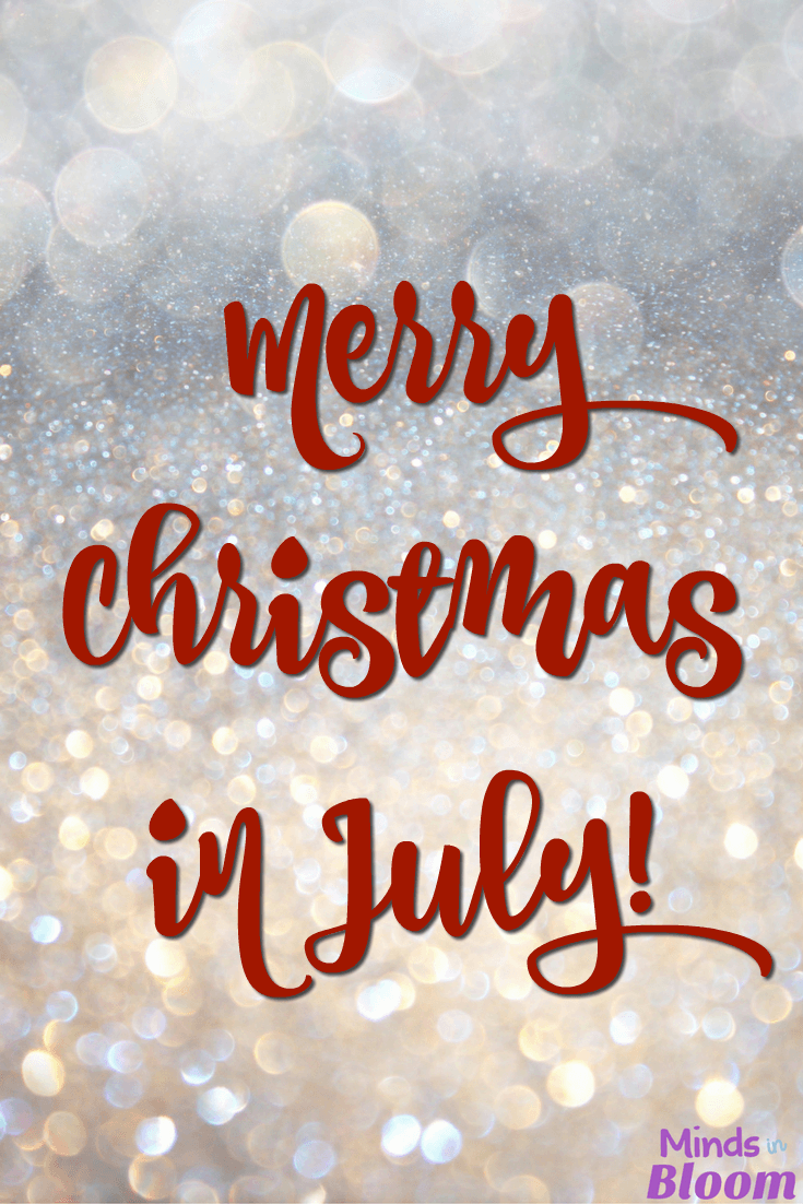Christmas in July? It's true! This post lists a variety of Christmas and Hanukkah activities that you can stow away until the holiday season in December.