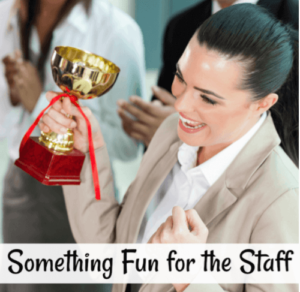 Schools everywhere experience low teacher morale from time to time. It's always hard to raise spirits during these times, so here's something fun for staff that will help boost staff morale during those tough times.