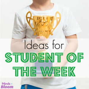 Ideas for Student of the Week, Super Star, VIP etc.