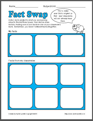 Fact Swap Freebie