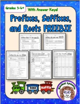 FREE: Five Suffix, Prefix and Word Root Worksheets