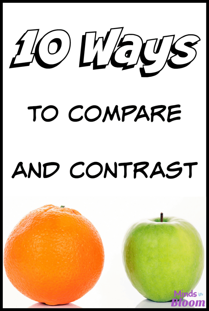 Teaching students to compare and contrast is an extremely important skill and should have high priority, because it's a skill that's necessary in all content areas. This list shares 10 ways to compare and contrast that you can start using right now!