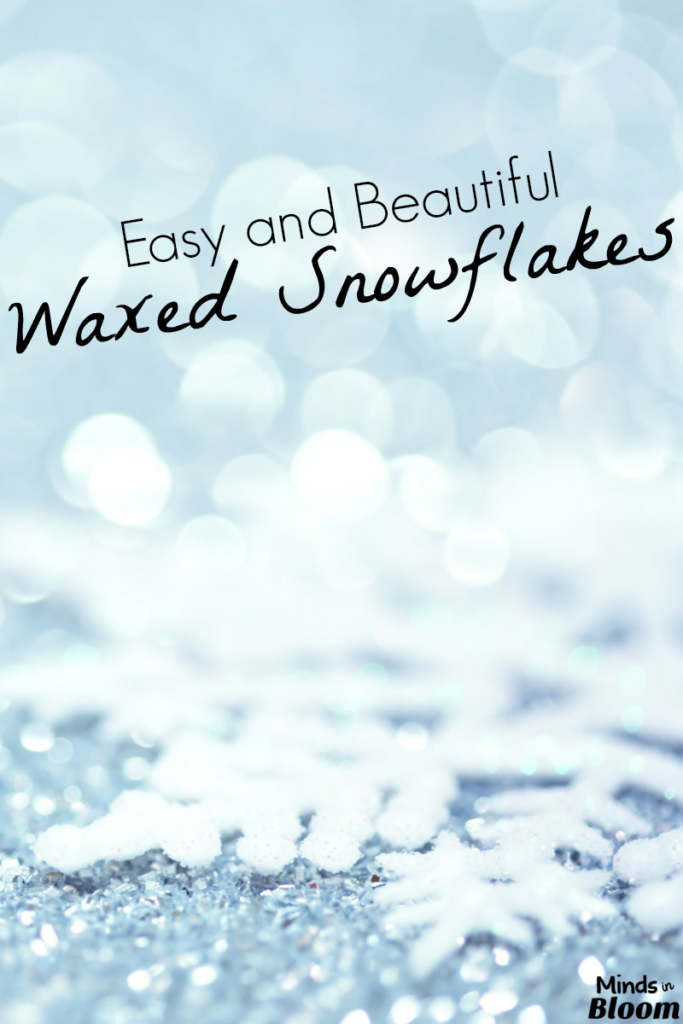 Easy and Beautiful Waxed Snowflakes
