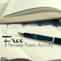 Free Pensee Poem Activity