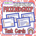 Friends are so very important for both children and adults. Some kids may not yet have the social skills to know how to make friends on their own, so I created these friendship cards. The prompts will help your students learn and improve social skills to make and keep friends.