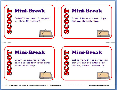 graphic about Break Cards for Students Printable named SCOOT Expert services for At the time Your self Include Further more Learners than Playing cards