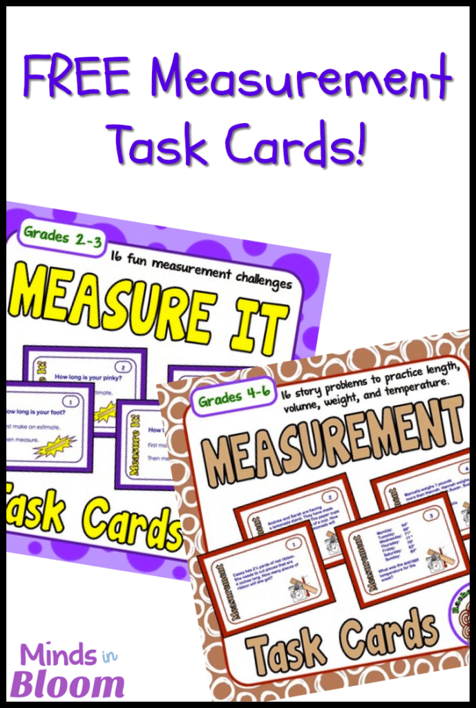 These free measurement task cards will help your student practice a variety of essential mathematics skills, as well as practice the skill of measurement. Plus, since they're task cards, you can use them in centers, as a review game, as partner work, and more!