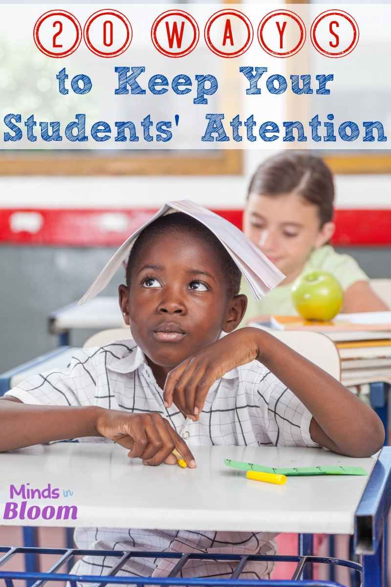 Kids' minds wander; that's just a fact of life! Help your students bring their minds back to the lesson with these 20 ways to keep your students' attention.