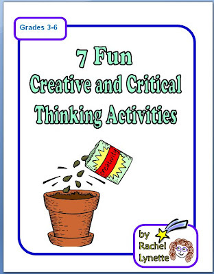 critical and creative thinking activities answers Engaging esl efl activities, worksheets and topic-based lessons to help students practice and develop their critical thinking and when all the answers have.