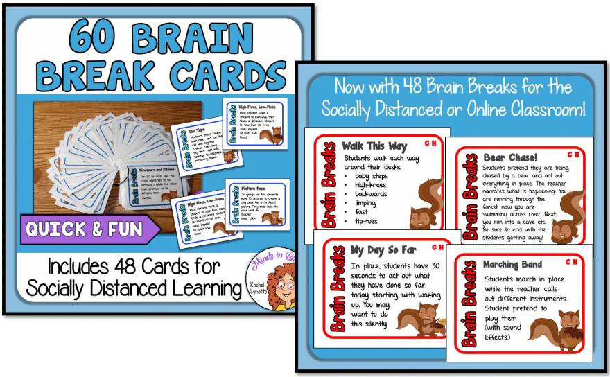 Click here for some Brain Breaks Task Cards