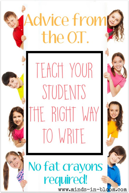 Did you know that there is a right way to write? Many teachers and parents don't realize this. Our guest post from an occupational therapist discusses the right way to write and the writing, coloring, and painting utensils that you need to throw out or modify to teach students to hold those utensils correctly.