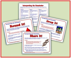 FREE Interpreting Remainders Handout and Posters