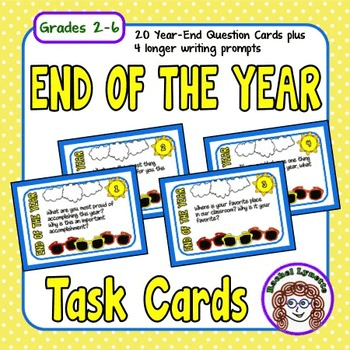 End of the Year Task Cards for Grades 2-6