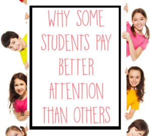Have you ever wondered why some students seem to be able to pay attention better than others? Our guest blogging Occupational Therapist shares insight into why some children pay better attention than others. Click through to read more about her insight.