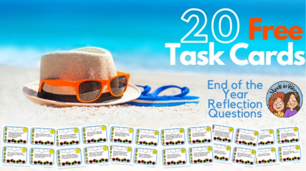 end of the year reflections task cards