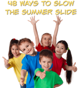 The summer slide is a real challenge that teachers and parents face. This blog post provides 48 ideas that will help you slow or prevent the summer slide. Click through to read the suggestions for both younger and older kids!