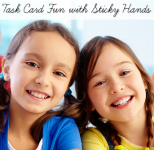 Task Card Fun with Sticky Hands!