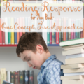 Reading response is a necessary part of reading instruction, and there are lots of ways to do it. Some are highly effective, others aren't. In this post Rachel shares five different approaches to reading response that you can use for any book. All are tested and proven to be useful in classroom instruction!
