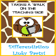 Taking a Walk on the Teaching Side- Differentiation Link-up
