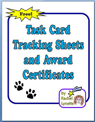 Your students need task card tracking sheets, so Rachel has delivered! Click through in this post to read about a FREE resource that she made that includes downloadable sheets to students to track which task card sets they've completed, as well as award certificates that you can give to students when they complete sets.