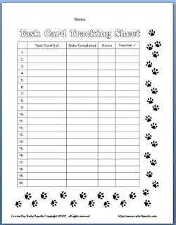 Task Card Tracking Sheets and Award Certificates