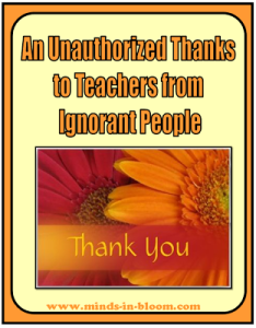 Unauthorized Thanks to Teachers from Ignorant People