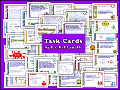 Rachel Lynette Task Cards