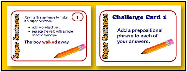 Super Sentences Task Cards