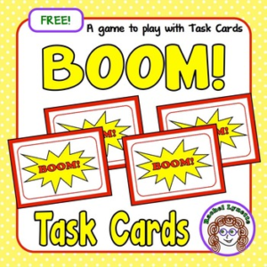 BOOM! A Free Game to Use with Task Cards!