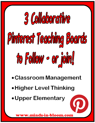Are you a teacher looking for Pinterest boards to follow? Check out these three collaborative Pinterest boards with hundreds of pins to inspire you!