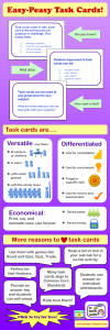Task Cards Infographic and Free Cards to Try!