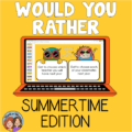 Summertime Would You Rather Questions for the End of the Year